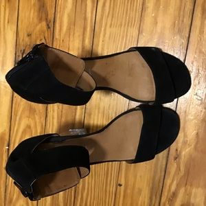 Jeffrey Campbell Lucite Ankle Strap Chunky Heel 10